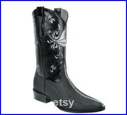 Men's Western Boots Botas Vaqueras de Hombre (Mantarraya) P33-910