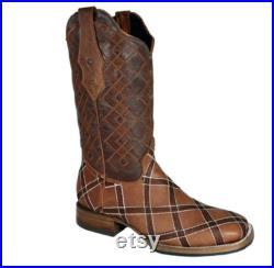 Men's Westren Leather Boots Botas de hombre (Bota Rodeo De Piel)