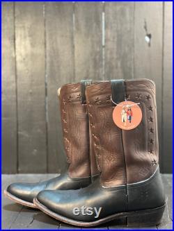 Mens 11, frye boot, black cowboy boots, brown cowboy boots, mens western boots, round toe boots, FREE USA SHIPPING