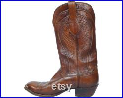 Mens Lucchese Boots Seville Model 2083 Brown Goatskin 10 D