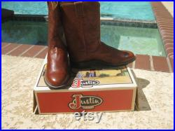 New old Stock from 1990's Vintage (been in closet) and Ready for YOU , Brand New Justin Ropers, Size 8 Wide.