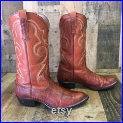Nocona Vtg Ostrich Leg Cowboy Boots Mens 10.5 D