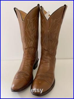 Original Justin style vintage leather cowboy boots