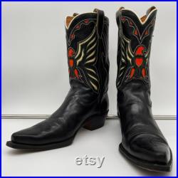 RARE Mens Vintage 1950s Western Cowboy Thunderbird Rockabilly Boots