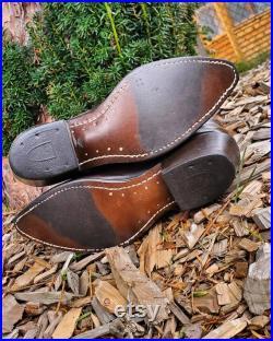 Rare vintage 60's-70's leather Durango Talon Zipper tobacco leather boots