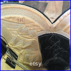 Rios Of Mercedes Vtg Python Exotic Leather Cowboy Boots Mens 11d