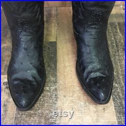 Rios of Mercedes Full Quill Ostrich Cowboy Boots Mens 10 A (Narrow)