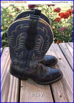 SALE Closing Shop SALE Cowboy cowgirl boots western blue black