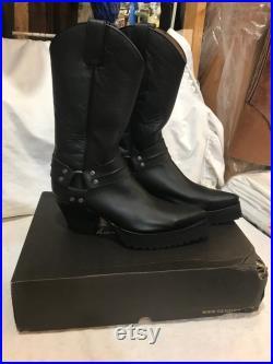 SENDRA cowboy western platform customized glam rock kiss mens boots sz 9 gay interest