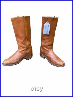 Size 8.5 D Frye Mens Vintage Campus Western Boots Brown Leather