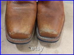 Tan FRYE Moto Boots