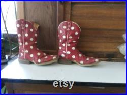 Tin Haul Red White Polka Dot Cowboy Western Boot 7. 5 B