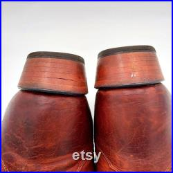 Tony Lama Cowboy Boots Brown Leather Mens Size 13 D Handcrafted In USA
