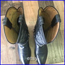 Tony Lama Cowboy Boots Made USA Men s 9.5d