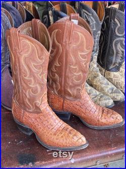 Tony Lama 'Hornback Caiman' Cowboy Boots, sz 6.5 EE