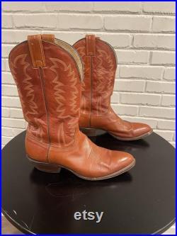 Tony Lama Mens Vintage Cowboy Western Boots Size 11 D