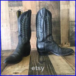 Tony Lama Vtg 8614 Exotic Cowboy Boots Men s 8d