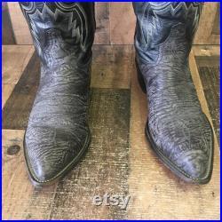 Tony Lama Vtg Cowboy Boots Mens 10.5 D