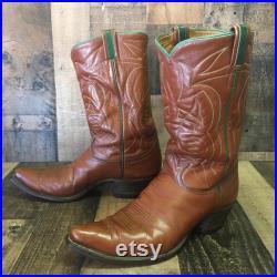 Tony Lama Vtg Gold Label Cowboy Boots Men s 11 d