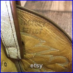 Tony Lama Vtg Gold Label Cowboy Boots Men s 8.5 d