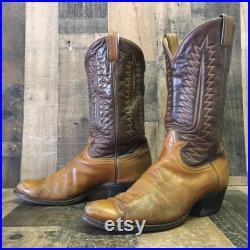 Tony Lama Vtg Gold Label Cowboy Boots Mens 11.5 D