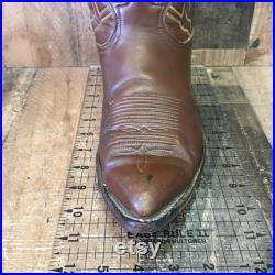 Tony Lama Vtg Gold Label Cowboy Boots Mens 11 D