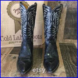 Tony Lama Vtg Gold Label Cowboy Boots Mens 8 D