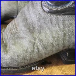Tony Lama Vtg Gold Label Exotic Cowboy Boots Men s 8.5 d