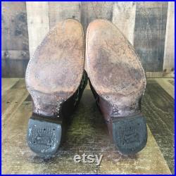 Tony Lama Vtg Gold Label Teju Lizard Cowboy Boots Mens 8 D
