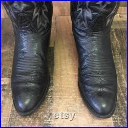 Tony Lama Vtg Ostrich Gold Label Cowboy Boots Mens 11 D