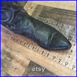 Tony Lama Vtg Pointed Toe Ostrich Cowboy Boots Mens 11 D