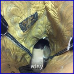 Tony Lama Vtg Teju Gold Label Cowboy Boots Men s 9 d