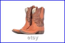 USED Cowboy Boots Size 9 Brown Leather