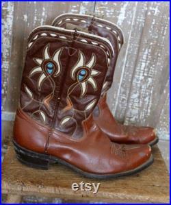 VINTAGE 50'S ACME SHORTY Cowboy Boots Men's 9 1 2 D