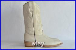 Vaquero Western Cowboy Boot Hueso off White Handmade