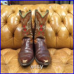 Vintage 1950 s Western Cowboy Thunderbird Rockabilly Boots, Vintage Cowboy Boots, Western Boots, Vintage Boots, 1950 s Boots