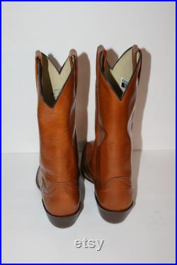 Vintage 1970s Cognac FRYE Western Cowboy Boots Men s Size 9.5 EE New