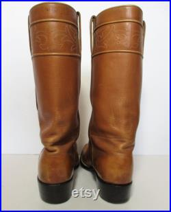 Vintage 1980s Lucchese Cowboy Boots, Brown Leather, Size 11B Men