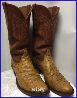Vintage Ammon Ostrich Skin Boots