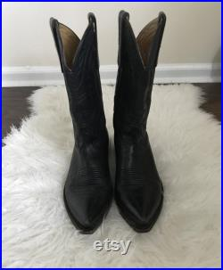 Vintage Black Handmade Liberty Company Cowboy Boots Size Women's 8 1 2 C
