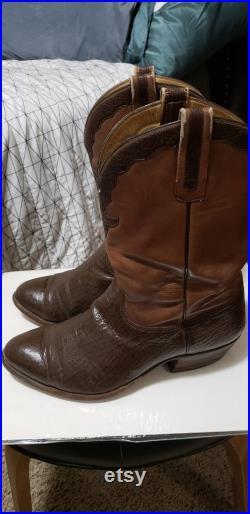Vintage Black Jack Brown Boots Men's 10 Wide