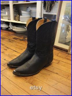 Vintage Black Leather Nocona Western Cowboy Boots Men's Size 12 EEE