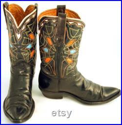 Vintage Cowboy Boots Men's sz 8