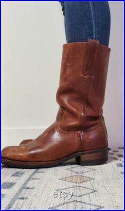 Vintage Frye Boots Western Square Toe