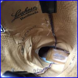 Vintage Handmade Lucchese Burnished Ostrich Men Women Cowboy Boots Size 6 1 2 D Size 8
