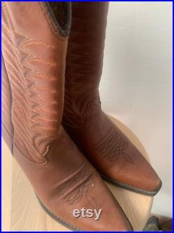 Vintage Joe Sanchez Western Boots in Leather EU 39 US 8 UK 6