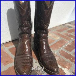 Vintage Justin alligator skin cowboy boots