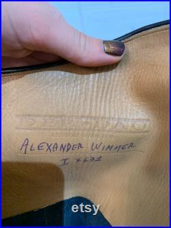 Vintage Leather Riding Boots Black
