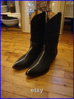 Vintage Los Altos Handmade Exotic Stingray Men's Western Cowboy Boots Size 10.5 EE