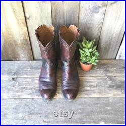 Vintage Lucchese Boots Handmade Ostrich Leather